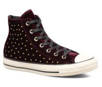Chuck Taylor All Star Velvet Studs Hi Sneaker in weinrot