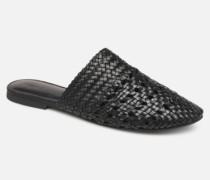 Vmgaura Leather Mule Clogs & Pantoletten in schwarz