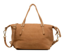 Cabas cuir Little Imane Handtasche in beige