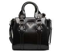 REY LEATHER CROSSBODY TOP ZIP Handtasche in schwarz