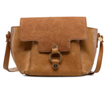Video Réversible Cuir Handtasche in braun