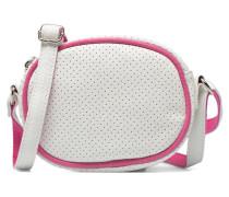 Micro Sac Perforé Handtasche in weiß