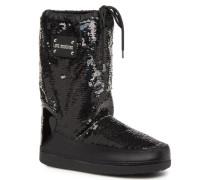 Paillettes Ski Boot Sportschuhe in schwarz