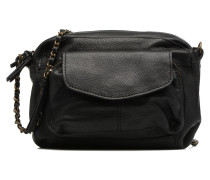 Naina Leather Crossover Handtasche in schwarz