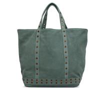 Cabas Suede Œillets M Handtasche in grün