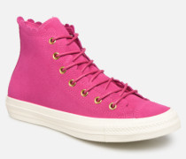 Chuck Taylor All Star Frilly Thrills Hi Sneaker in rosa