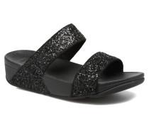 Glitterball Slide Clogs & Pantoletten in schwarz