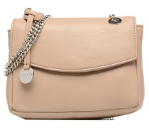 Chain leather Handtasche in beige