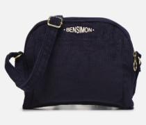 CORDUROY ROUND BAG Handtasche in blau