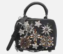 Box Crossbody Nubuck Handtasche in schwarz