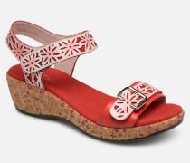 FACRDOTO 019 Sandalen in rot