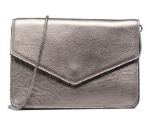 Vera Leather Shoulder bag Handtasche in silber