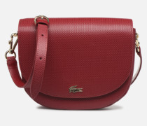 CHANTACO CUIR ROUND CROSSOVER BAG Handtasche in weinrot