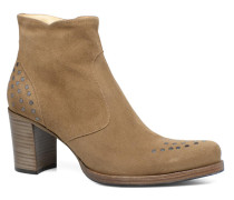 Paddy 7 Zip boot rivet Stiefeletten & Boots in beige