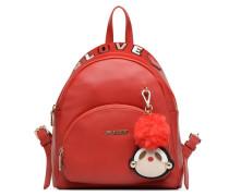 Sac à dos Girly Pompom Rucksäcke für Taschen in rot