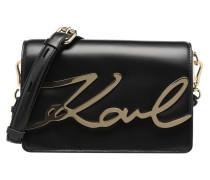 K Signature Shoulder Bag Handtasche in schwarz