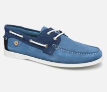 Boat Shoes Larch Suede Schnürschuhe in blau