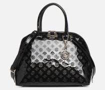 PEONY SHINE LARGE DOME SATCHEL Handtasche in schwarz