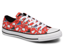 Chuck Taylor All Star Ox Fiery Hello Kitty Sneaker in rot