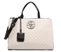 G Lux Status Satchel Bicolore Handtasche in grau