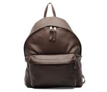Le sac à dos Padded cuir Rucksäcke für Taschen in braun