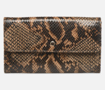 Porte feuille Pat Foil embossed Python in braun