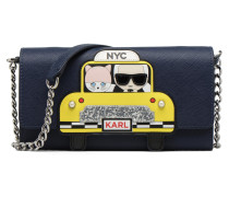 Chain Wallet NYC in blau