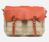 MINI MATHS TOILE ET CUIR Handtasche in orange