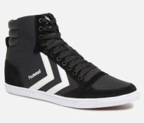 Slimmer Stadil High canvas Sneaker in schwarz