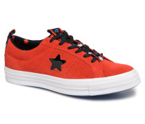 One Star Ox Fiery Hello Kitty Sneaker in rot