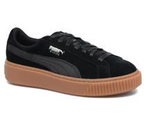 Wns Suede Platform Gum Sneaker in schwarz