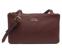 Double Zip Crossover Handtasche in weinrot