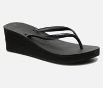 High Fashion Zehensandalen in schwarz