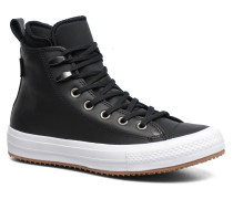 Chuck Taylor WP Boot Leather Hi Sneaker in schwarz