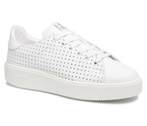 Deportivo Basket Piel Perforada Sneaker in weiß