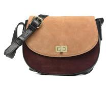 Jolo Suede Crossbody Handtasche in weinrot