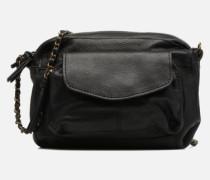 Naina Leather Crossover Handtasche in schwarz