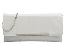 Pochette baguette glitter Handtasche in silber