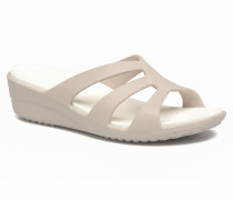 Sanrah Strappy Wedge Clogs & Pantoletten in grau