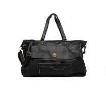 Totally Royal leather Travel bag Handtasche in schwarz