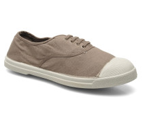 Tennis Lacets Sneaker in braun