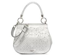 Jayne Top Handle Flap Handtasche in silber