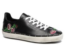 Michell Flower Nappa Sneaker in schwarz