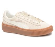 Suede Platform Bubble Wn's Sneaker in grau