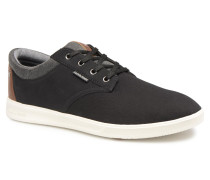 Jack & Jones JFW Gaston Canvas Mix Sneaker in schwarz