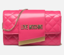 NEW SHINY QUILTED CROSSBODY Handtasche in rosa