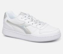 Playground Wn Shiny Sneaker in weiß