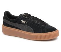 Suede Platform Bubble Wn's Sneaker in schwarz