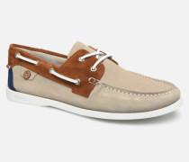 Boat Shoes Larch Suede Schnürschuhe in beige