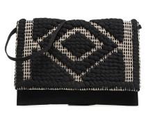 POCHETTE RAPHIA Handtasche in schwarz
